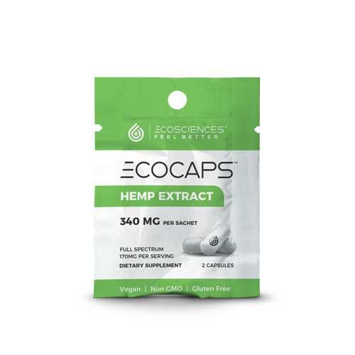 ecocaps hemp extract 2 capsules travel pack