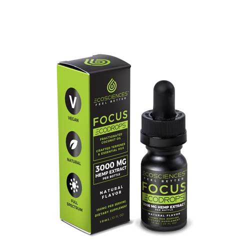 Ecosciences Ecodrops Focus, CBD Tincture, 10 ml