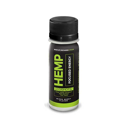 Hemp Ecoshots Focused Energy, Mixed Berry, 2oz