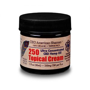 American Shaman Hemp Oil, Topical Cream, 250 mg, 1 oz