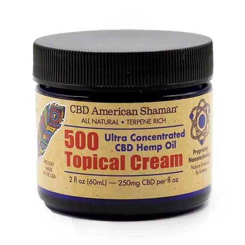 American Shaman Hemp Oil, Topical Cream, 500 mg, 2 oz