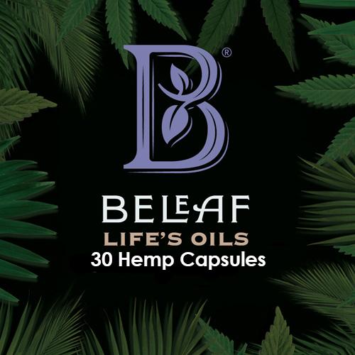 BeLeaf Full Spectrum CBD Oil, Melatonin Capsules, 30 ct Bottle