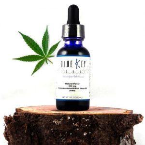 Blue Key CBD Oil Tincture, Broad-Spectrum, Natural, 1000 mg, 30 ml