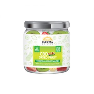 FARMa Edibles CBD Dried Fruit, Tropical Fruit Salad, 250 mg Jar