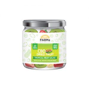 FARMa Edibles CBD Dried Fruit, Tropical Fruit Salad, 250 mg Jar